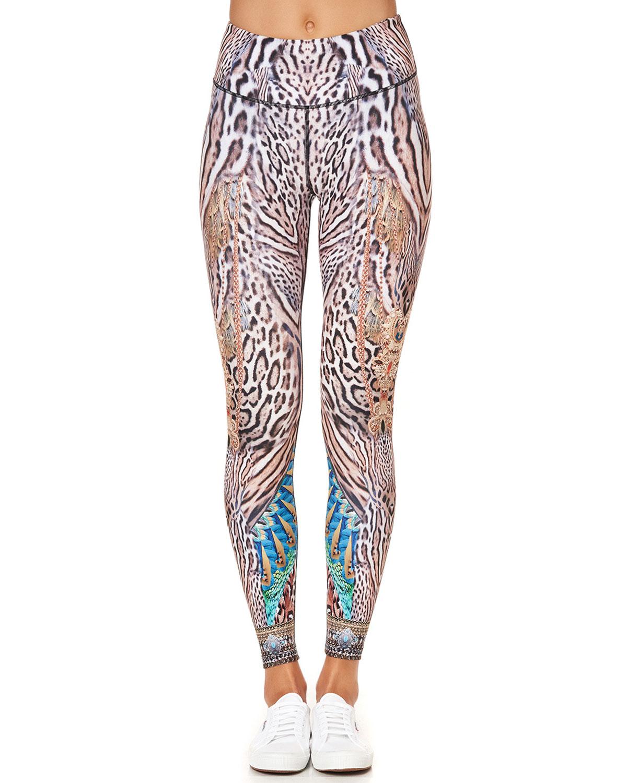 Active Leopard-Print Pants
