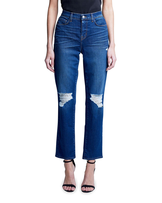 Shane High-Rise Slouchy Straight-Leg Jeans