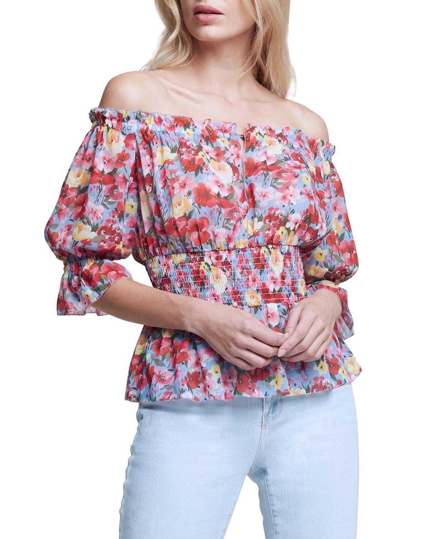 Aubriella Floral Off-Shoulder Top