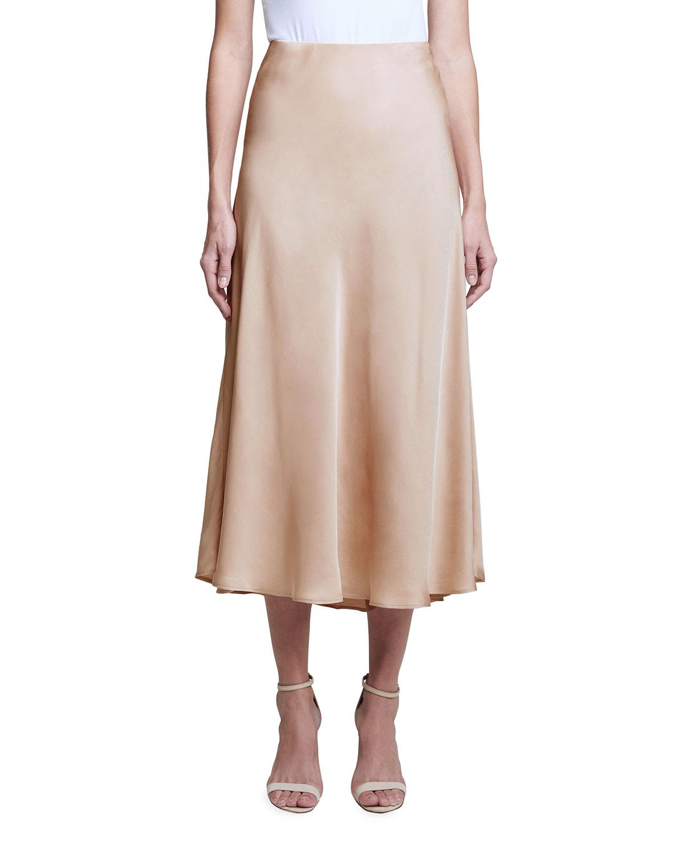Clarisa Bias Midi Skirt