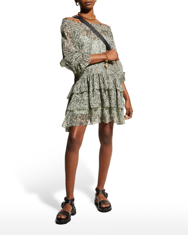 Janelle Tiered Long-Sleeve Dress