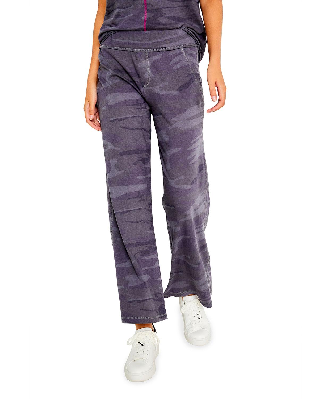Chillin Mock-Fly Raw-Edge Pants