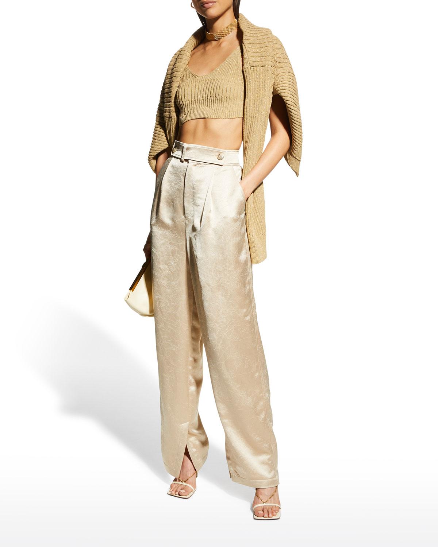 Odile Split-Hem Trousers
