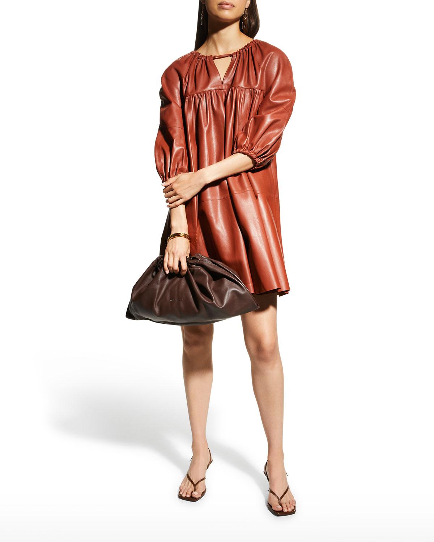Harini Leather Babydoll Dress