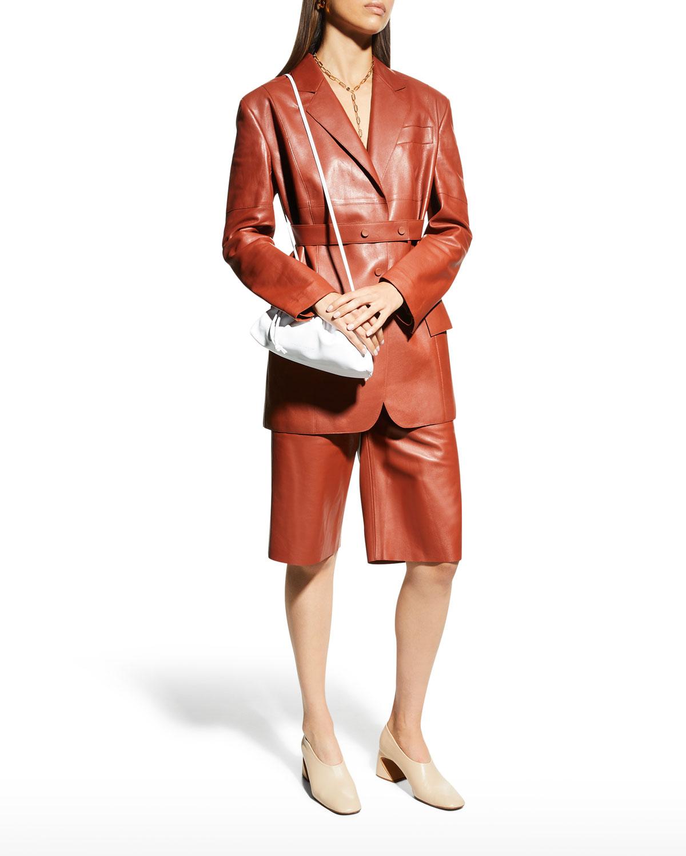 Patek Leather Drawstring Shorts