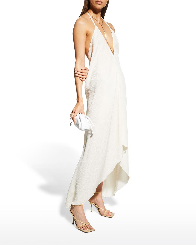 Sarla Open-Back Asymmetric Dress