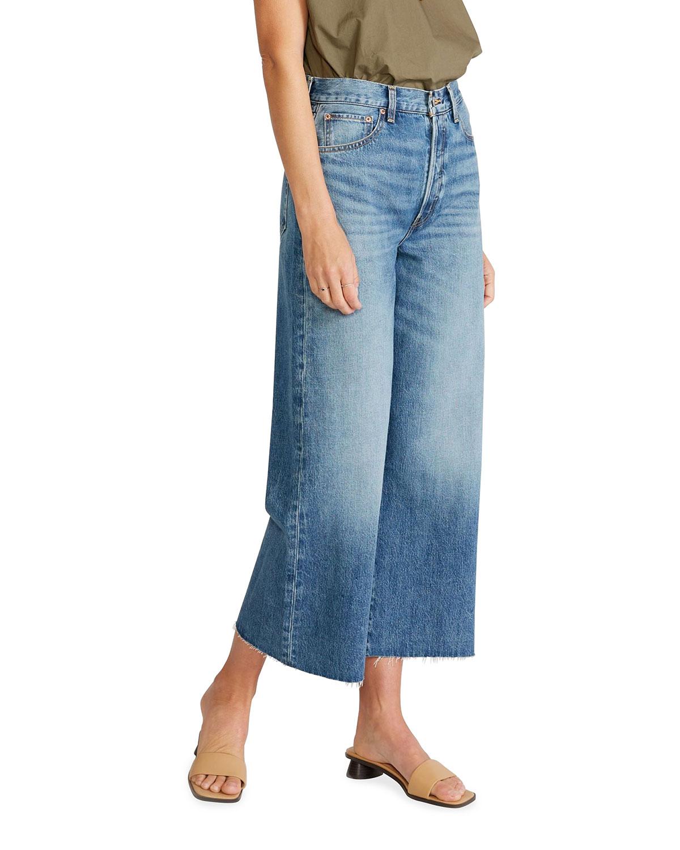 Devon Wide-Leg Cropped Jeans