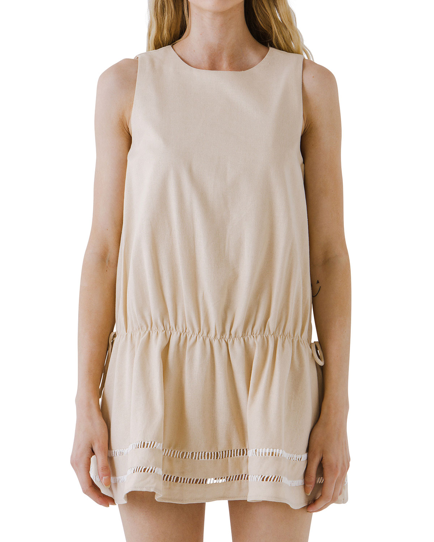 Sleeveless Tie-Back Mini Dress