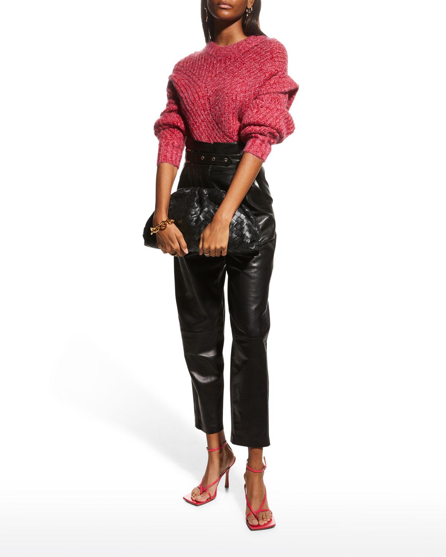 Kin Leather High-Rise Pants