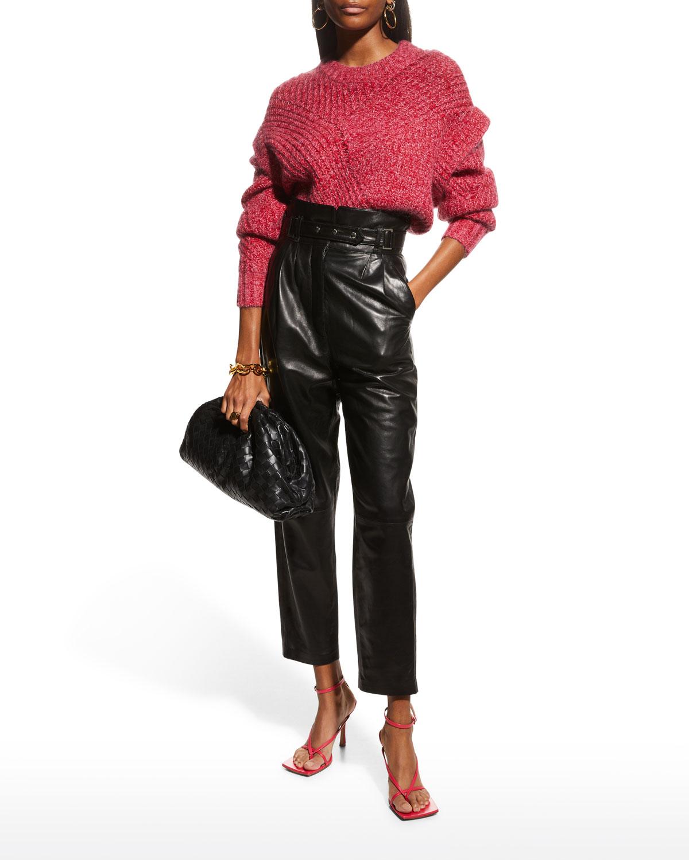 Acia Ribbed Mohair Sweater