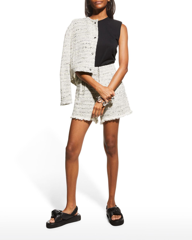 Timber Tweed High-Waist Shorts