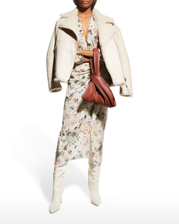 Mura Gathered Midi Dress
