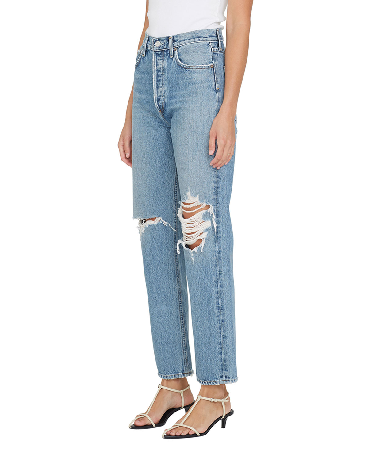 90s Pinched-Waist Vintage Straight Jeans