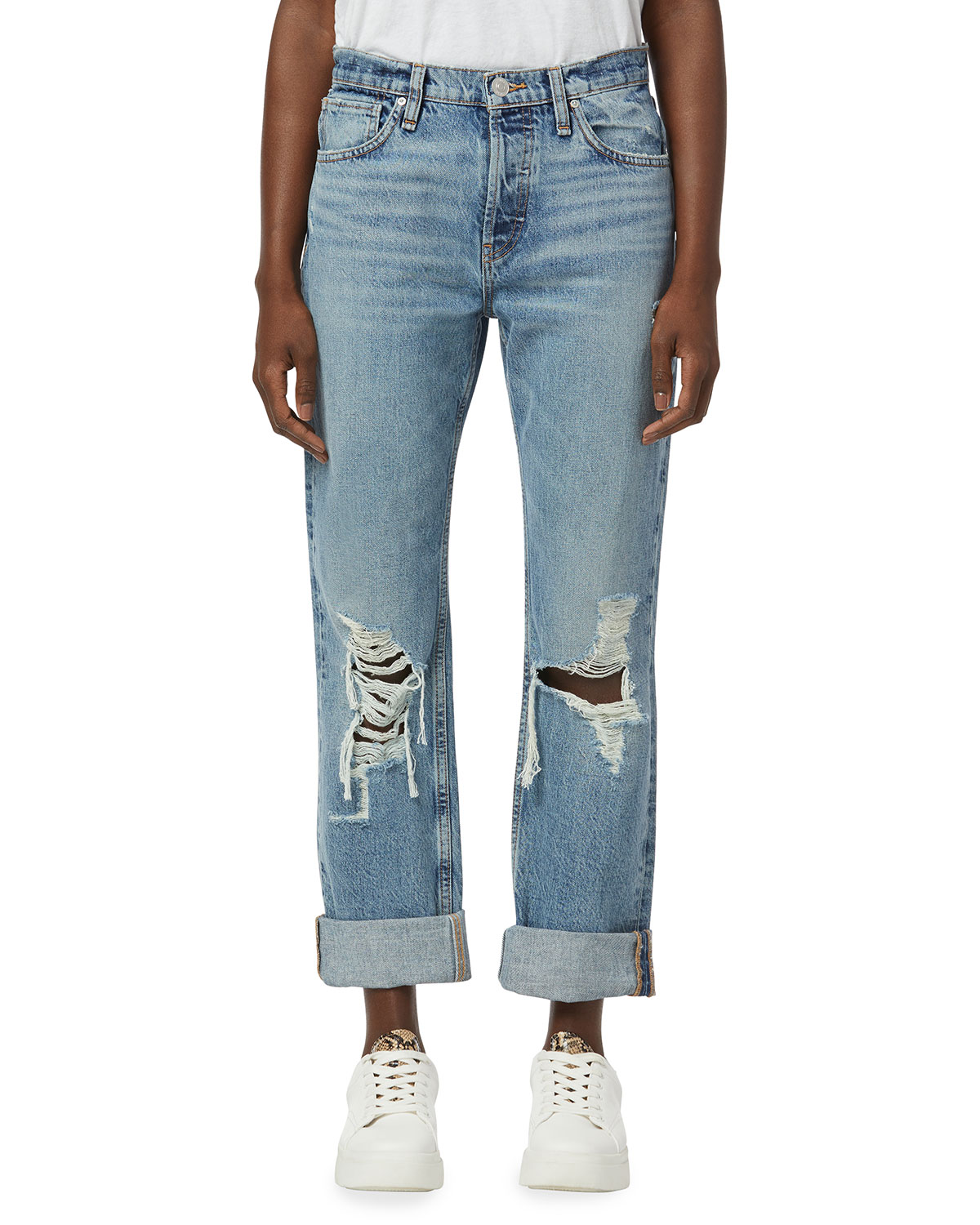 Thalia Loose-Fit Jeans with Rolled Cuffs