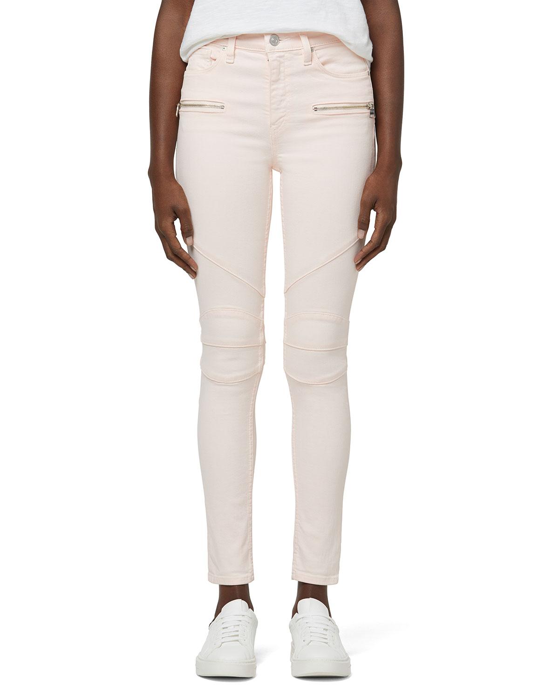 Barbara High-Rise Super-Skinny Moto Jeans