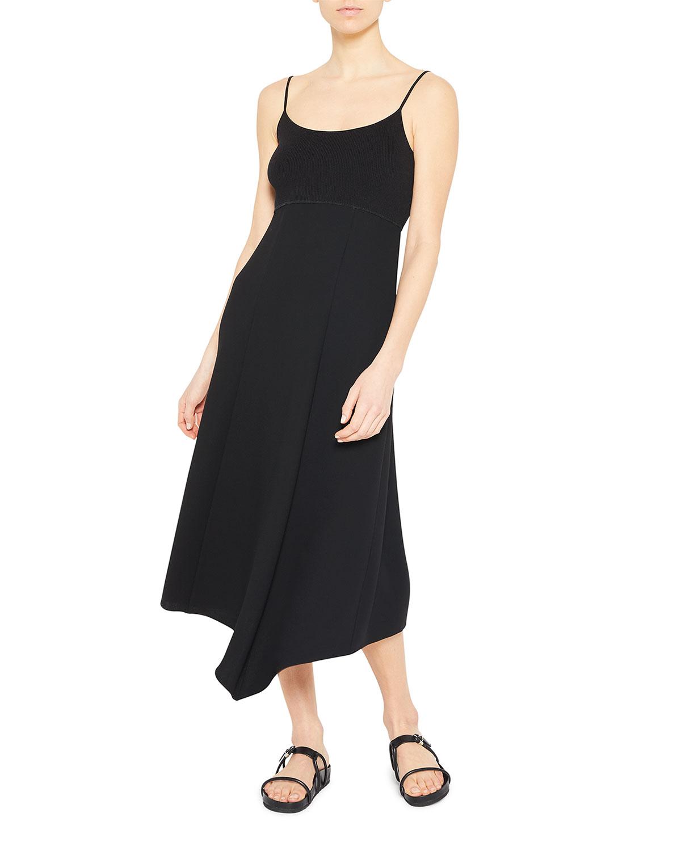 Midi Fit-&-Flare Crepe Dress