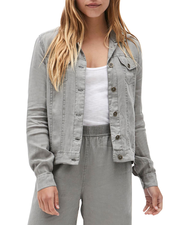 Linen Jean Jacket
