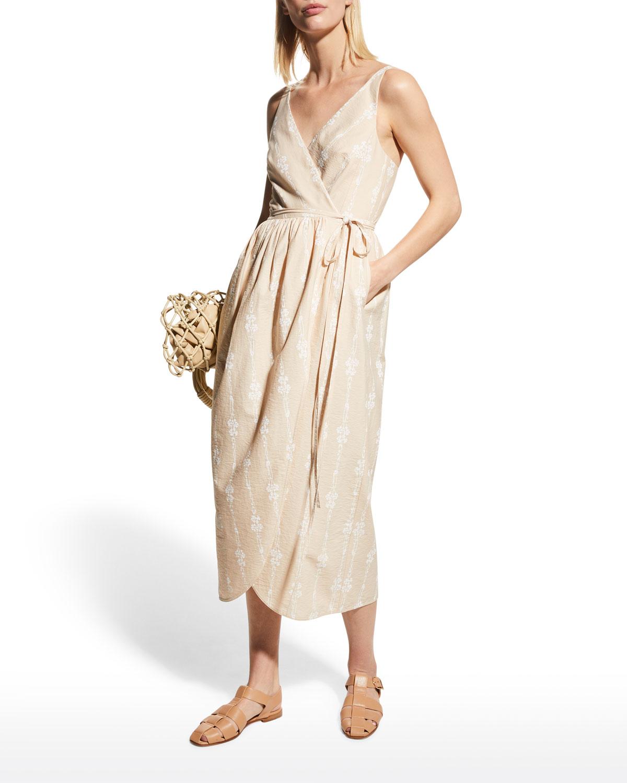 Sleeveless Tulip Wrap Dress