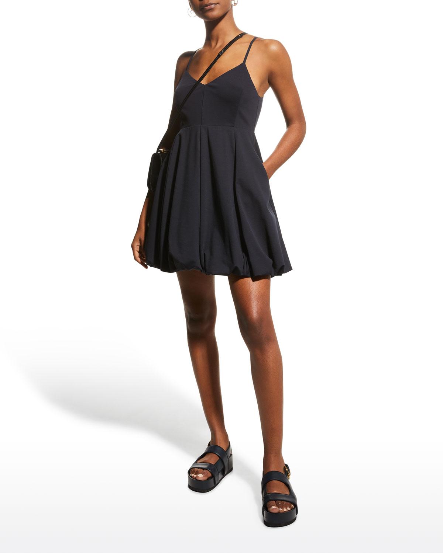 Bubble-Hem Short Dress