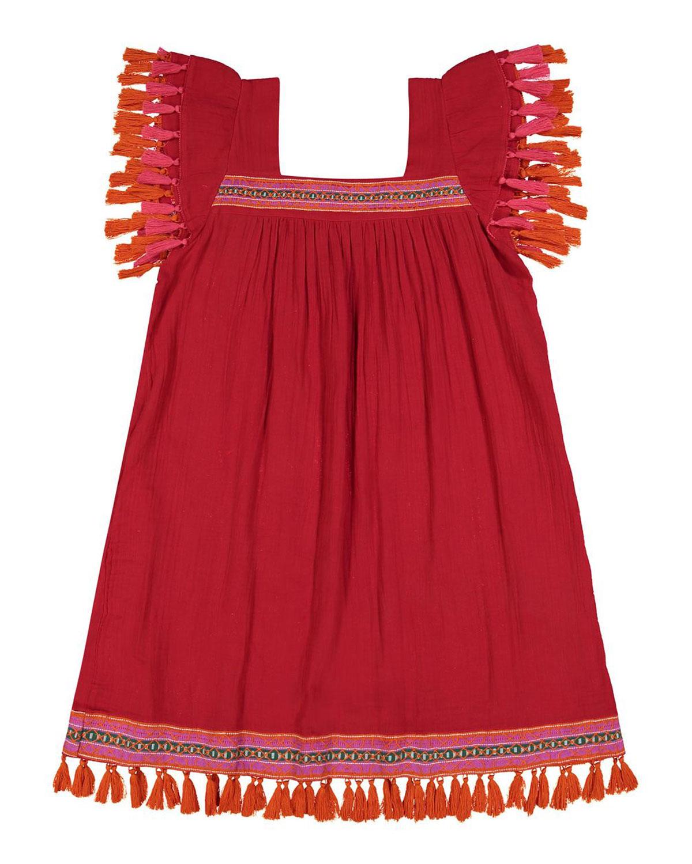 Sandrine Mini Coverup Dress with Tassels