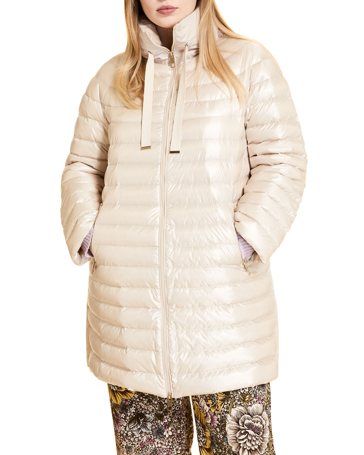 Plus Size Pacos Water-Resistant Down Quilted Jacket