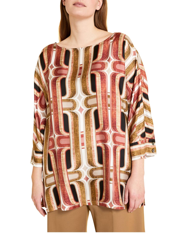Plus Size Fatato Silk Twill Tunic