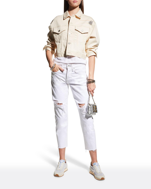 Mirah Cropped Denim Jacket