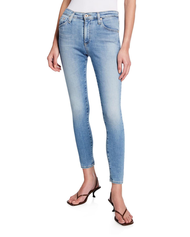Farrah Mid-Rise Ankle Skinny Jeans