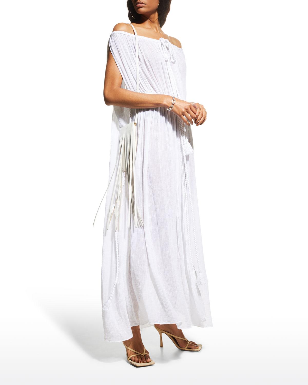 Juno Off-Shoulder Belted Coverup Dress
