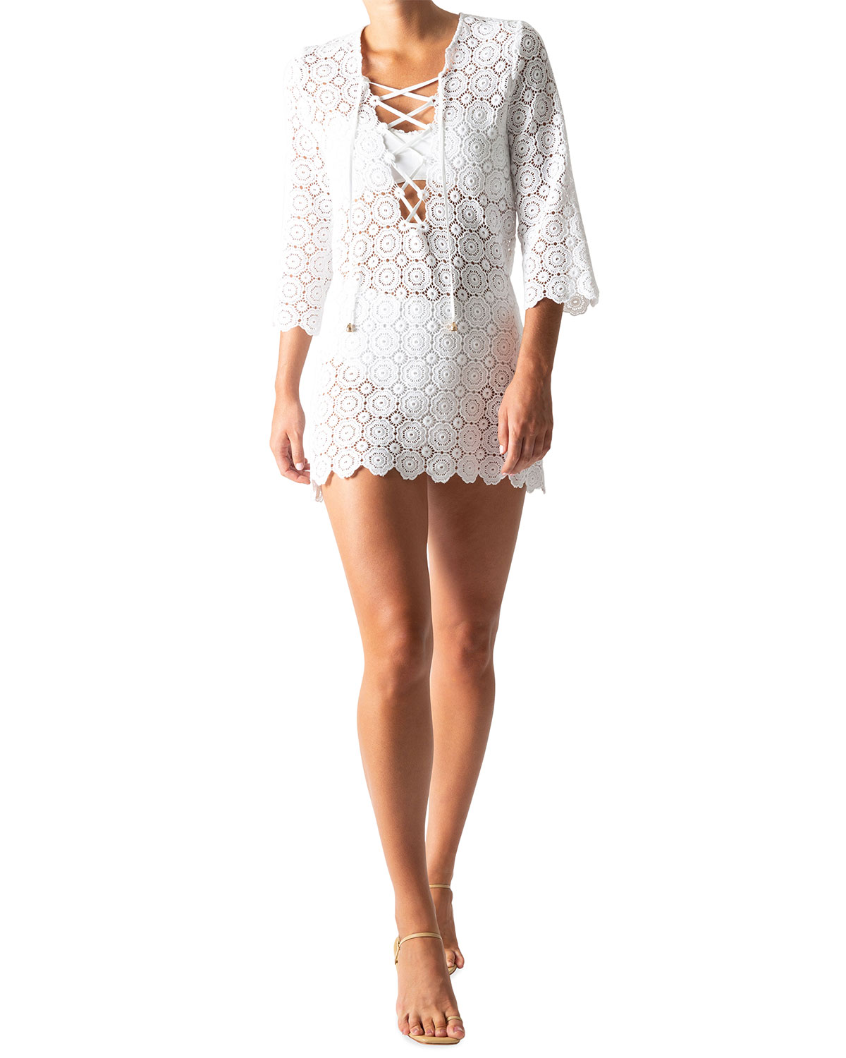 Mariah Lace-Up Coverup Tunic
