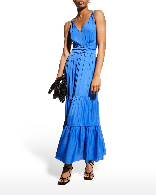 Remy V-Neck Tiered Maxi Dress
