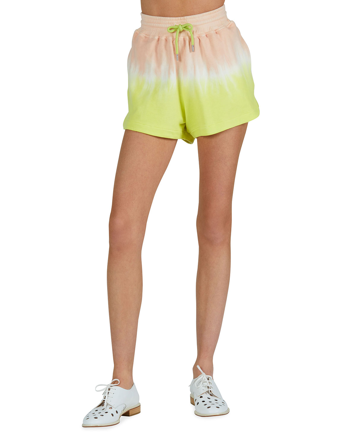 French Terry Tie-Dye Pull-On Shorts