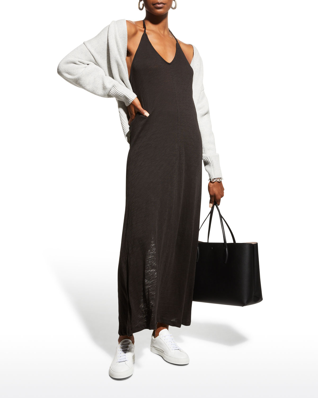 Slub Jersey Halter Maxi Dress