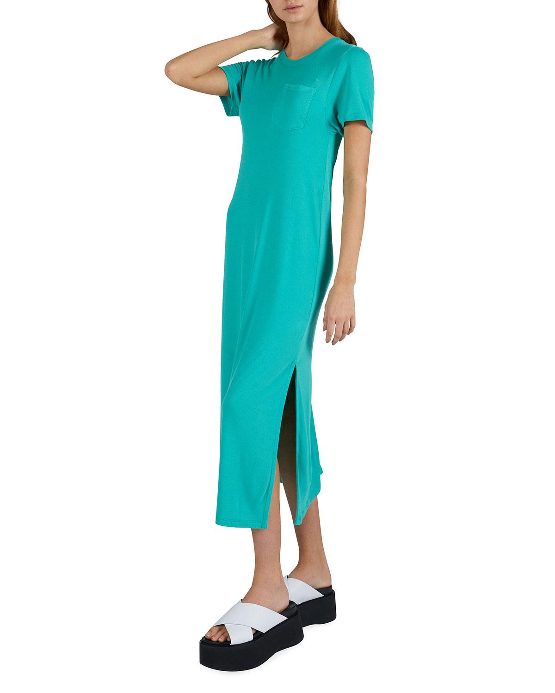 Modal Jersey Crewneck Midi Dress