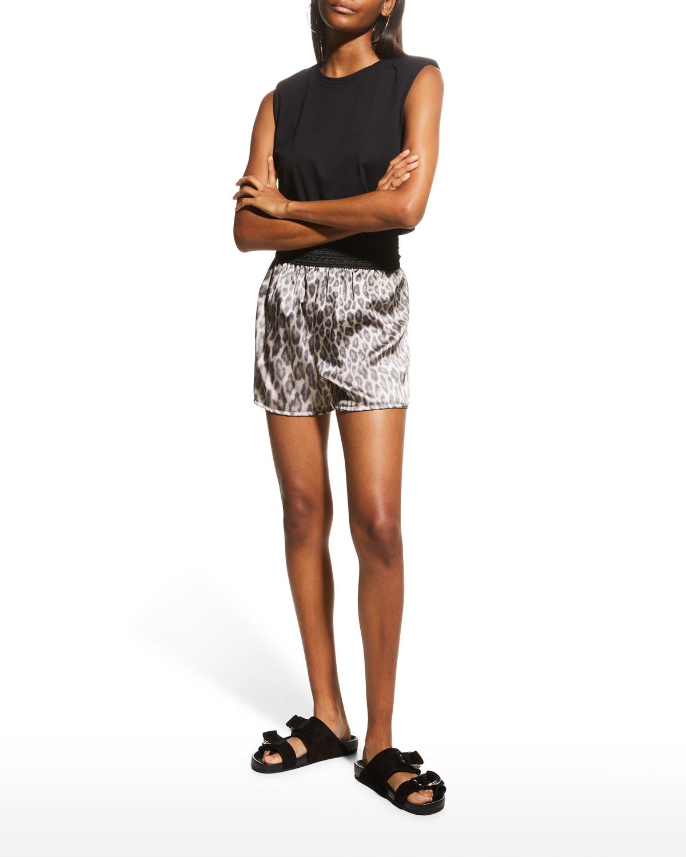 Silk Leopard-Print Boxer Shorts