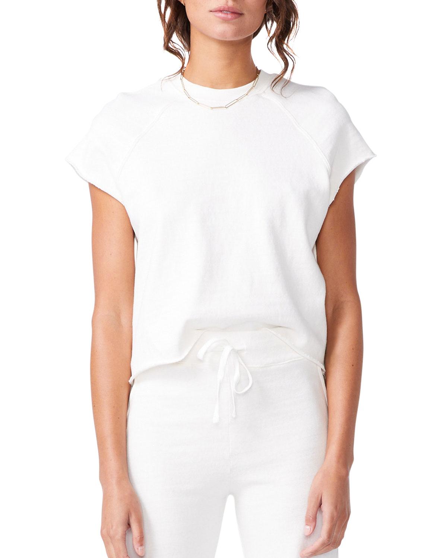 Short-Sleeve Cutoff Raglan Sweatshirt