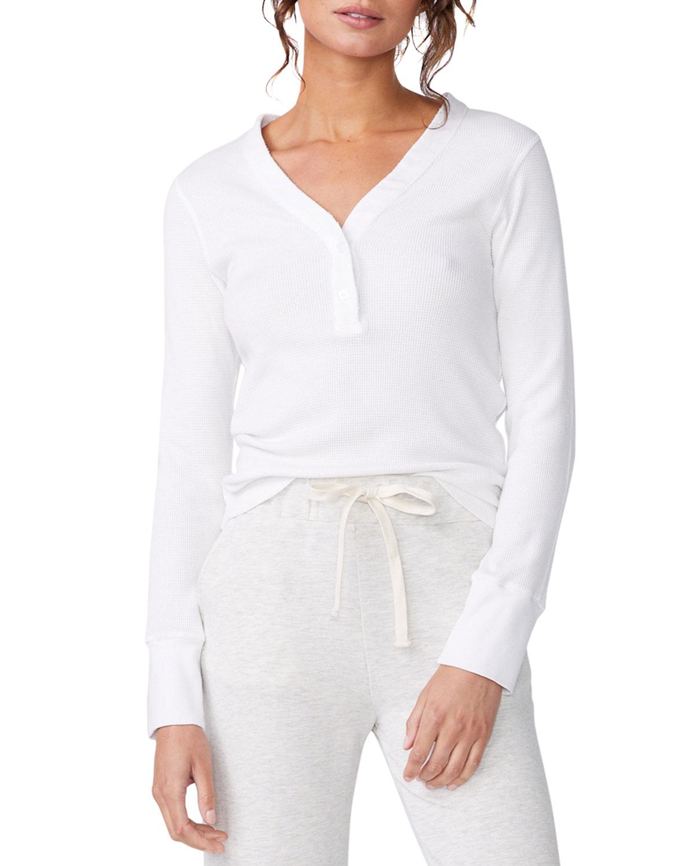 Long-Sleeve Henley T-Shirt