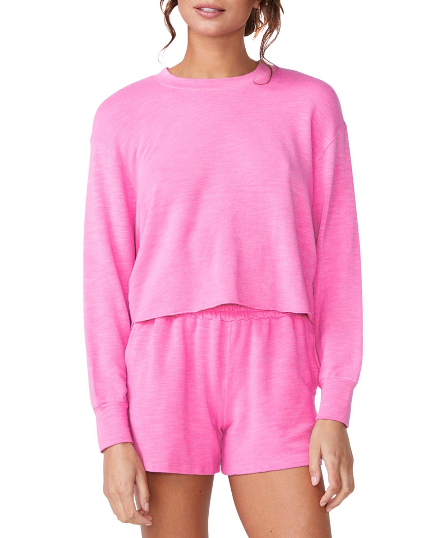 Raw-Hem Boyfriend Sweatshirt