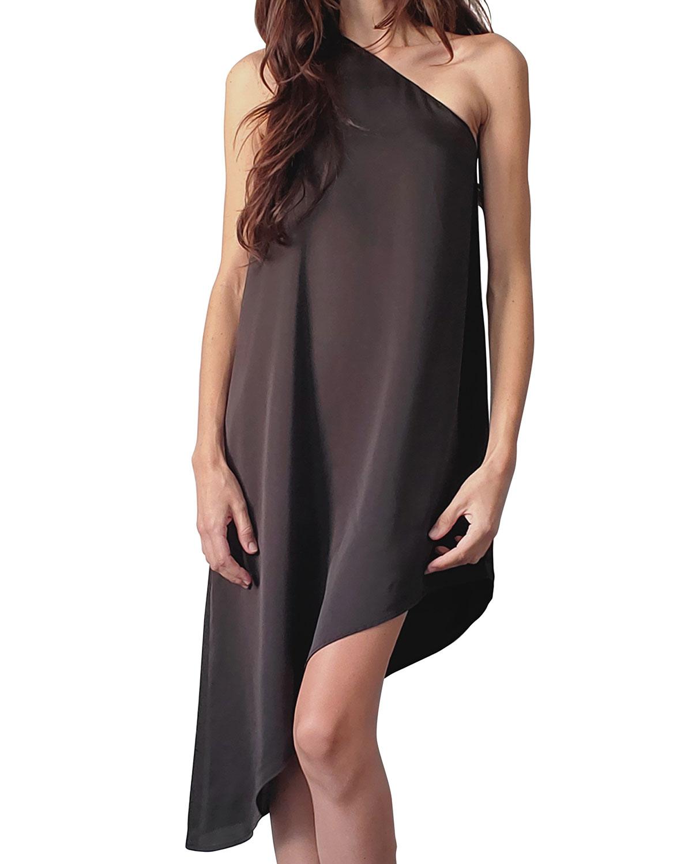 Vivian One-Shoulder Asymmetric Dress