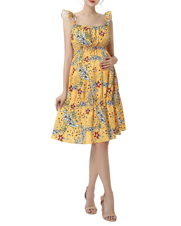 Maternity Jamie Floral-Print A-Line Dress