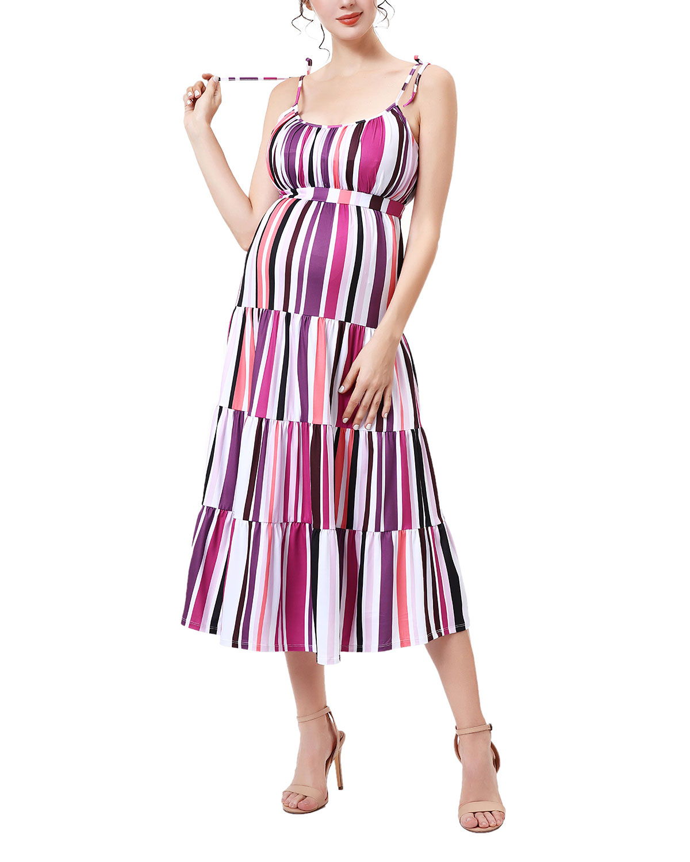 Maternity Katrina Tiered Jersey Dress