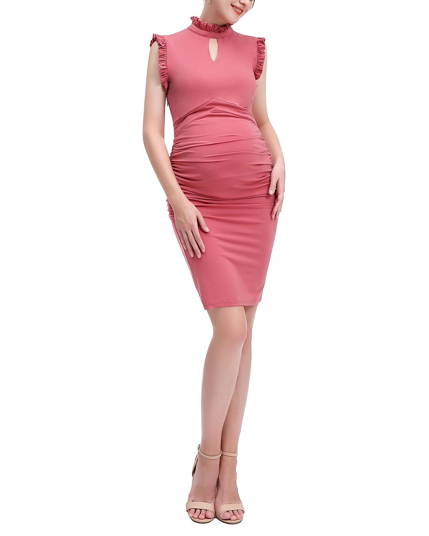 Maternity Madeline Keyhole Bodycon Dress