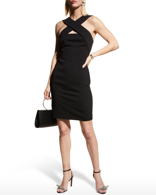 Andie Stretch Crepe X-Halter Dress