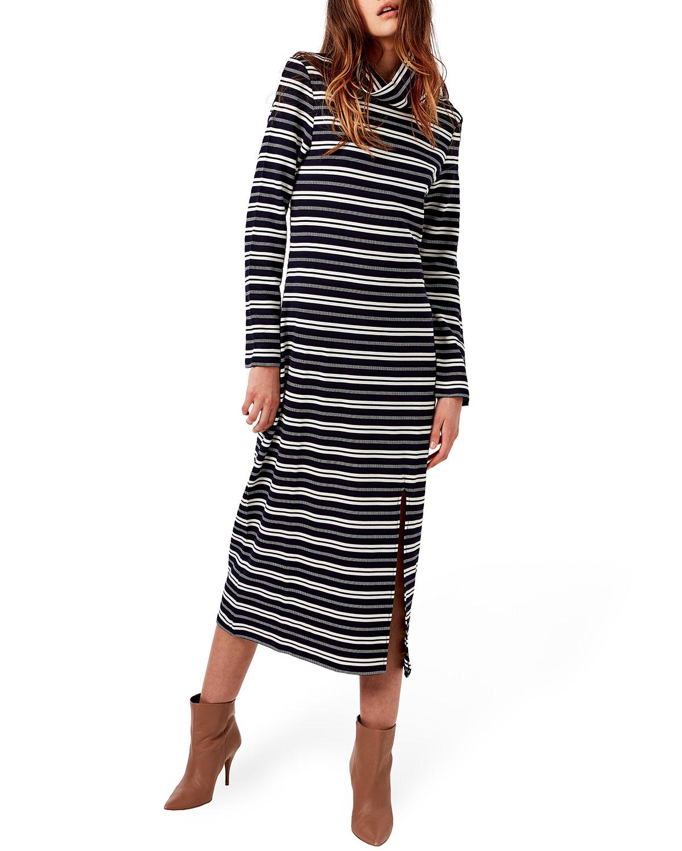 Gerard Side-Slit Midi Knit Dress
