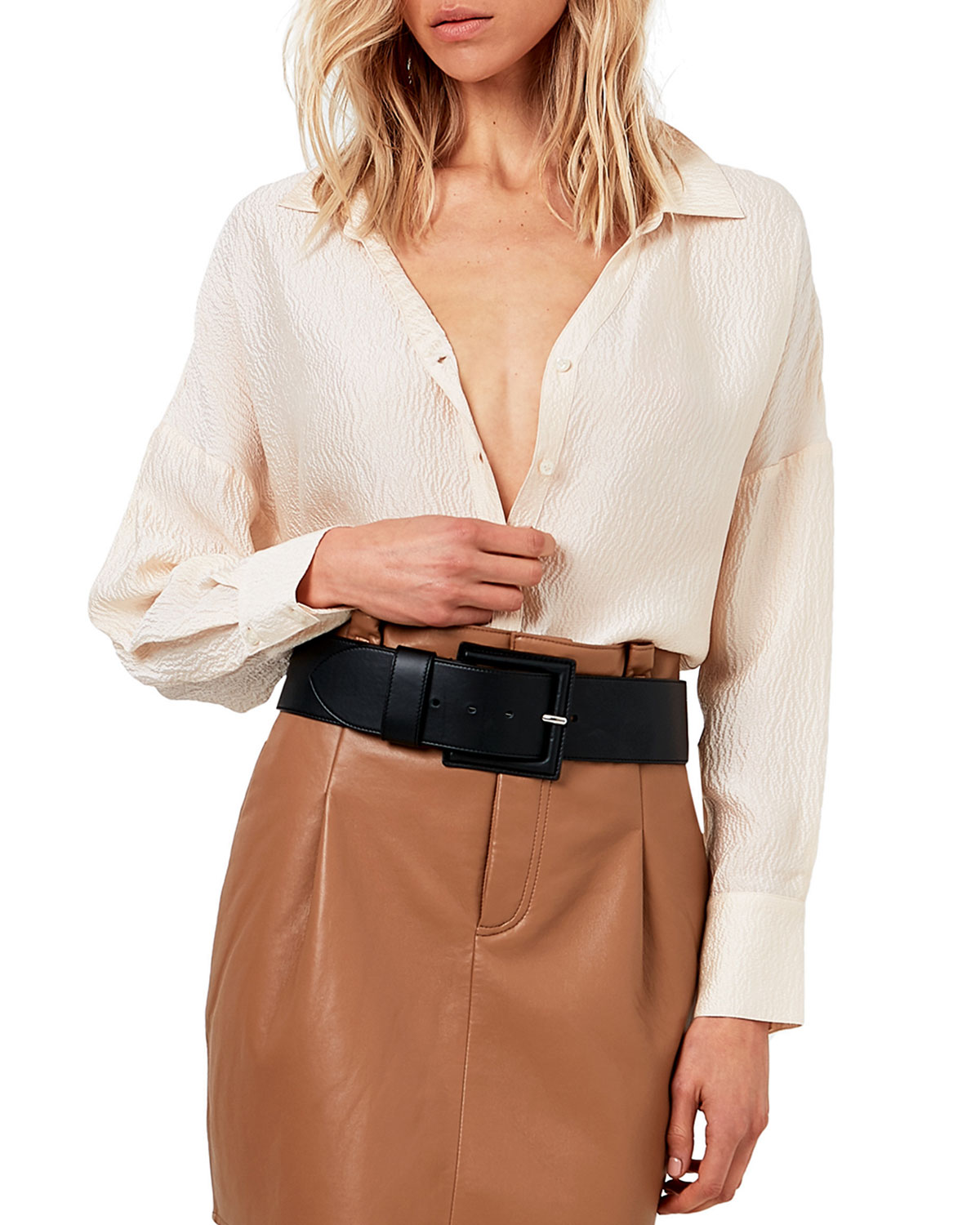 Sogni Textured Silk Blouse