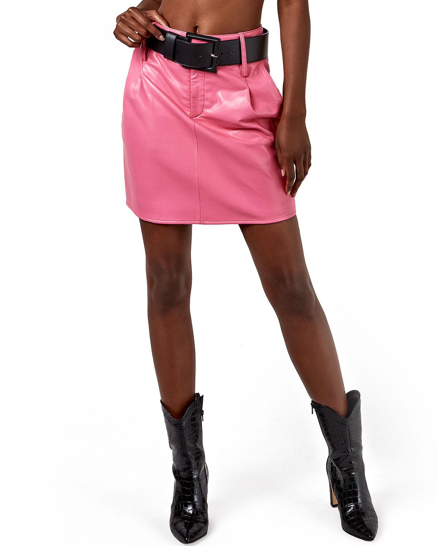 Jordan Leather Skirt