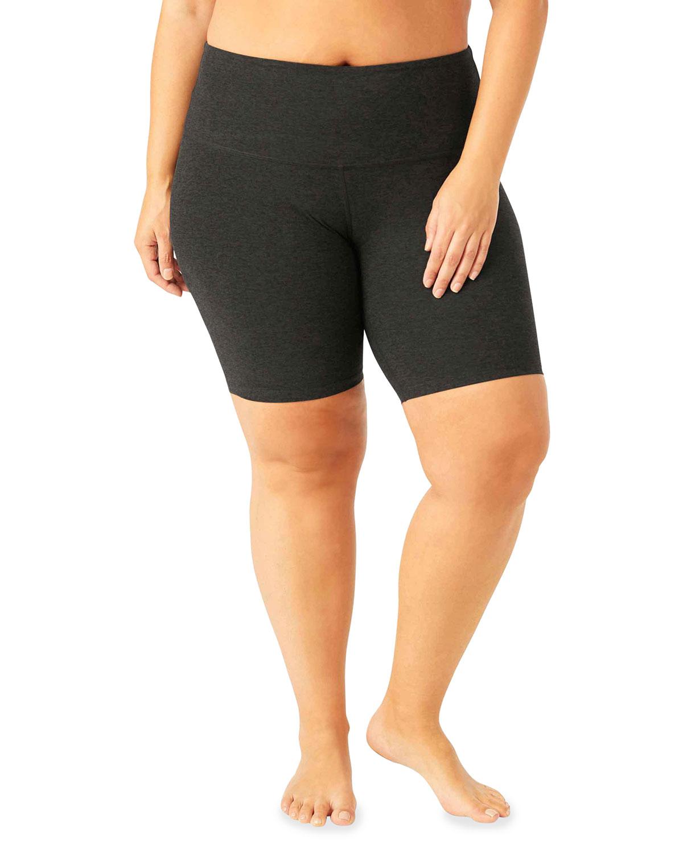 Plus Size High-Waist Biker Shorts