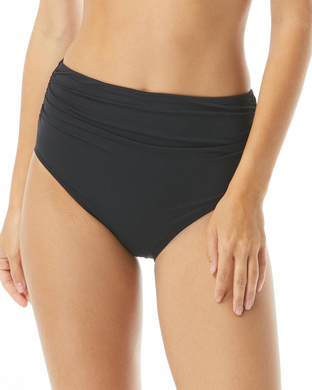 Ruched Back-Seam Bikini Bottoms