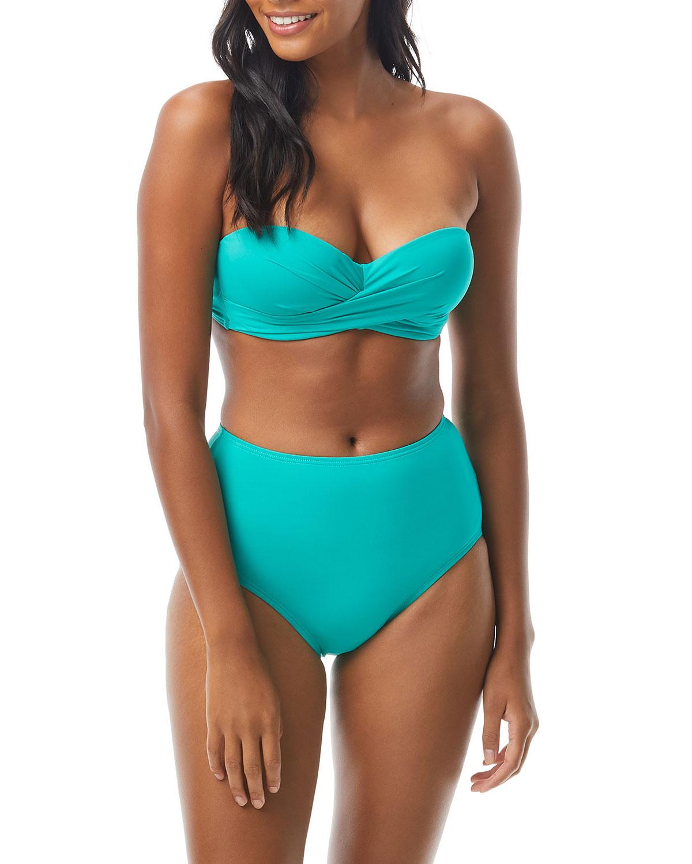 molded bandeau bikini top