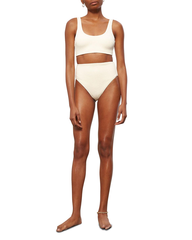 Lira Textured Scoop Bikini Top